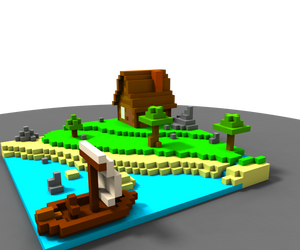 Voxel Project : little house by LordBerry