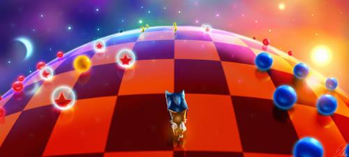Blue Spheres by Default-Deviant