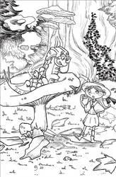 Alice in Wonderland Brucaliffo by euriante