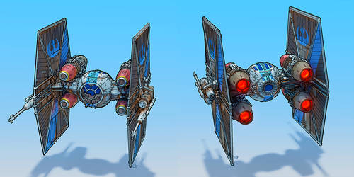 Rebel TIE fighter by entroz