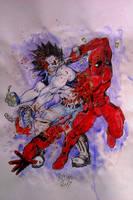 LoBo vs. Deadpool by rottenband