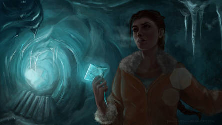 Ice cave by Pencil-Stencil