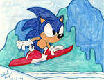 Retro: Sonic In Ice Cap Zone by Rapha-chan