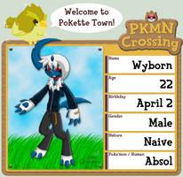 PKMN Crossing Application: Wyborn by Rapha-chan