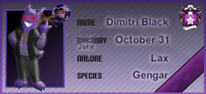 PKMNA: NPC App - Dimitri by Rapha-chan
