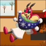 PKMSkies: Secret Santa 2017 - Miri's New Poncho! by Rapha-chan