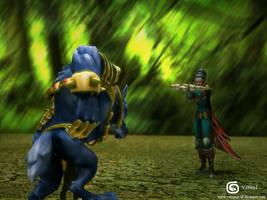 League of Legends Vayne vs Warwick by V3N0MX92