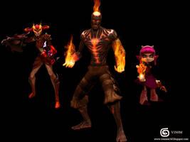 League of Legends Inferno Fan Art by V3N0MX92