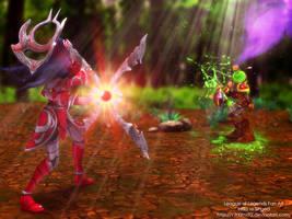 League Of Legends Fan Art - Irelia vs Singed by V3N0MX92