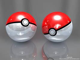 3D Pokeballs by V3N0MX92