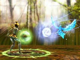 Orianna vs Anivia - LoL Fan Art by V3N0MX92