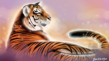 Tiger painting by Boochkin