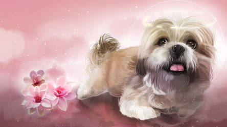 Dog painting - memorial by Boochkin