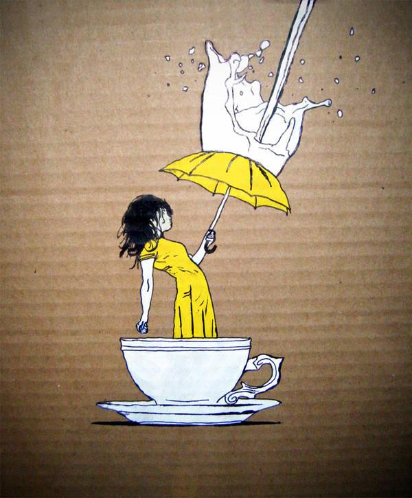 when it rains- stencil by ueris