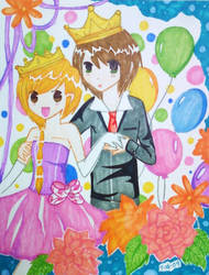 .the prince and princess. by Keloma