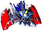.:PC:. Angeline and Optimus Prime by Micelux