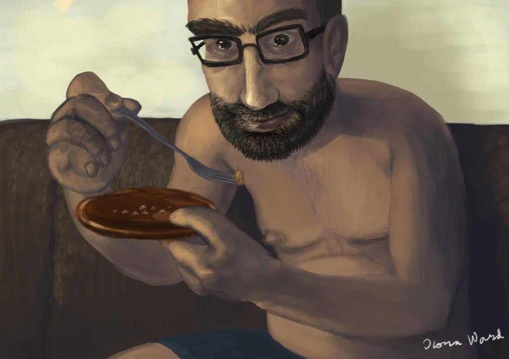 Man Eats Pie by Seeeks