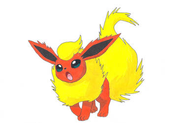 Flareon by Azure-Dragon-Seiryu