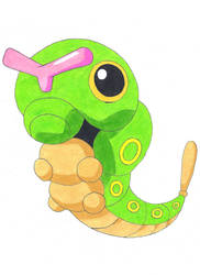 Caterpie by Azure-Dragon-Seiryu