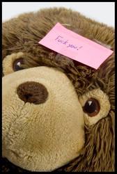 Fuck you, says the teddybear by Flomp