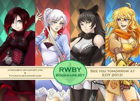 RWBY Bookmark Set by athenabeta