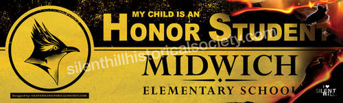 Midwich Elementary Honor Student Bumper Sticker by whitneyc