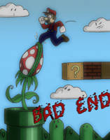 Bad End for Mario by Almightyshoe