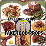 Realistic sized fake food props by FakeFoodArt
