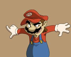 Mario brush test by Hesstoons