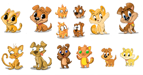 Dog and Cat concepts by Hesstoons