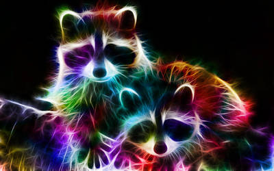 Fractal Racoons by MiniMoo64