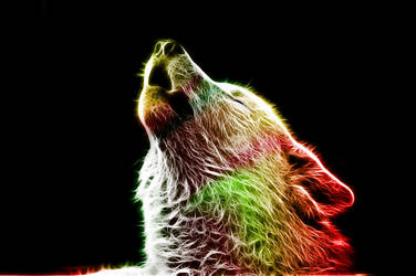 Fractalius Wolf - Howl at the Moon by MiniMoo64