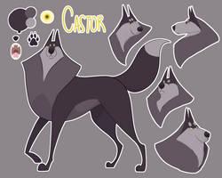 Castor Ref Sheet (Animation design) by kaleidoscopial