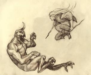 Fight01 by dragonlizzard
