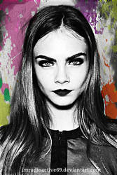 Cara Delevingne | ColorSplash by ImRadioactive69