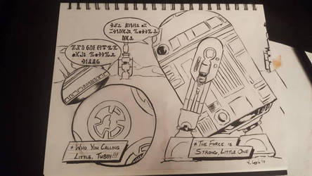 BB8 meets R2D2 (commission work) by Coyle1982