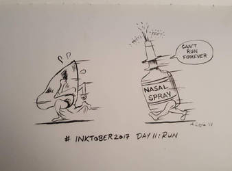 inktober day 11: run by Coyle1982