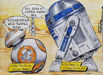 Droid meeting on Jakku by Coyle1982