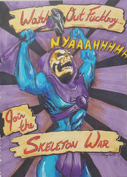Skeleton War Propaganda poster by Coyle1982