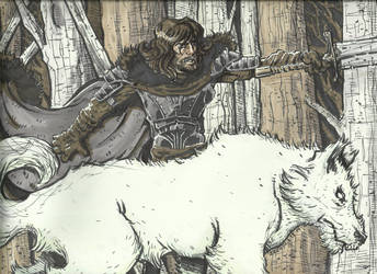 Jon Snow by zzenkinsein