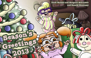 Maddie and Margaret - Seasons Greetings 2013 by ronaldhennessy