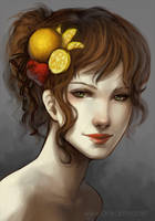 Flora Portrait by anikakinka