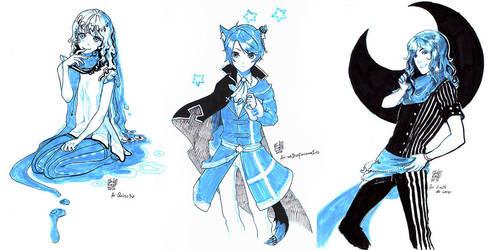 Sketch Commission Sample by anikakinka