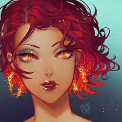 Queen of Fire by anikakinka