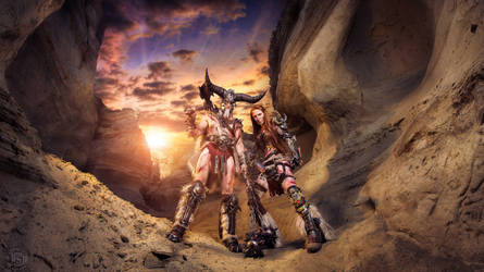 Barbarian Couple Cosplay - Diablo 3 by emilyrosa