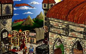 Imaginarium 14 : The mercantile bridge by Khelian-Elfinde