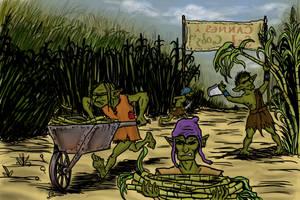 Imaginarium 14 : Salt cane fields by Khelian-Elfinde