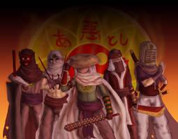Imaginarium 15 : Akuma monks by Khelian-Elfinde