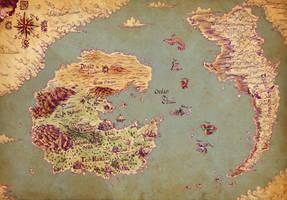Imaginarium 18 : World map by Khelian-Elfinde