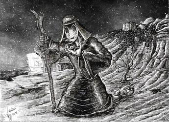 Peregrine sorrow by Khelian-Elfinde